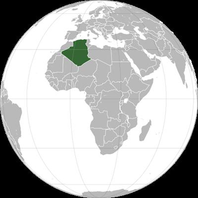 แผนที่ประเทศแอลจีเรีย