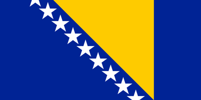 ธงชาติประเทศบอสเนียและเฮอร์เซโกวีนา