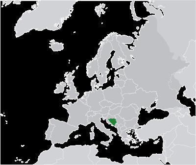 แผนที่ประเทศบอสเนียและเฮอร์เซโกวีนา