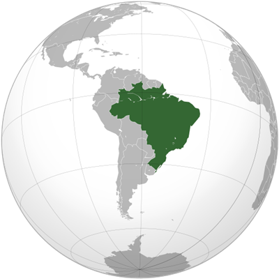 แผนที่ประเทศบราซิล