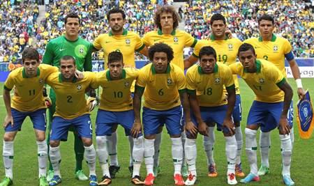 โฉมหน้านักเตะบราซิลชุดฟุตบอลโลก 2014