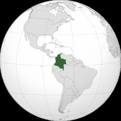 แผนที่ประเทศโคลัมเบีย