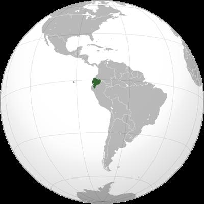 แผนที่ประเทศเอกวาดอร์