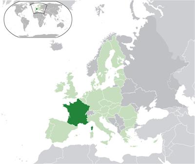 แผนที่ประเทศฝรั่งเศส