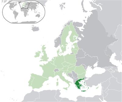 แผนที่ประเทศกรีซ