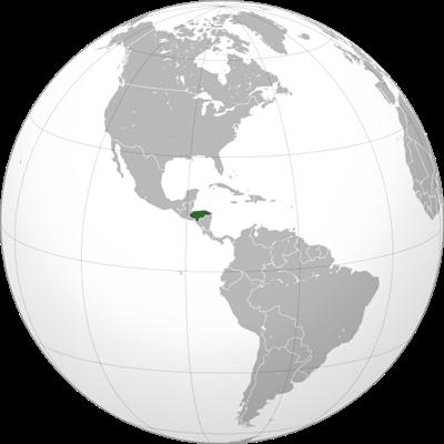 แผนที่ประเทศฮอนดูรัส