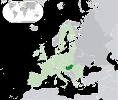 แผนที่ประเทศฮังการี