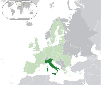 แผนที่ประเทศอิตาลี