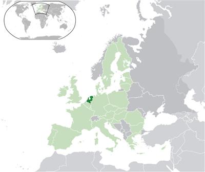 แผนที่ประเทศเนเธอร์แลนด์