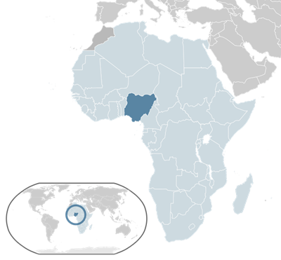 แผนที่ประเทศไนจีเรีย