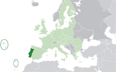 แผนที่ประเทศโปรตุเกส
