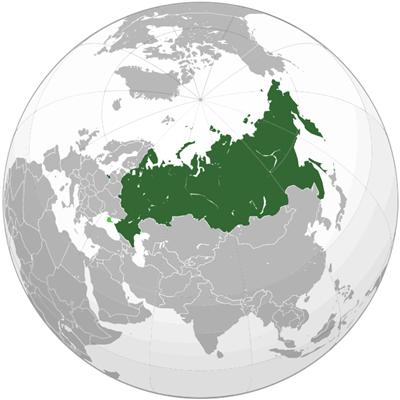 แผนที่ประเทศรัสเซีย
