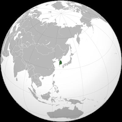 แผนที่ประเทศเกาหลีใต้