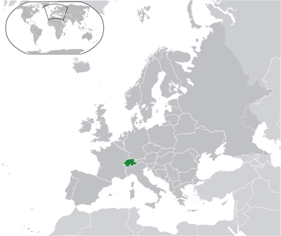 แผนที่ประเทศสวิตเซอร์แลนด์