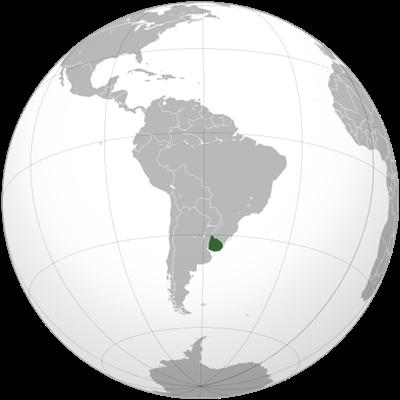 แผนที่ประเทศอุรุกวัย