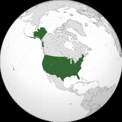 แผนที่ประเทศสหรัฐอเมริกา