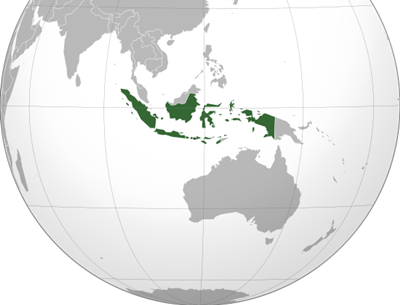 แผนที่ประเทศอินโดนีเซีย