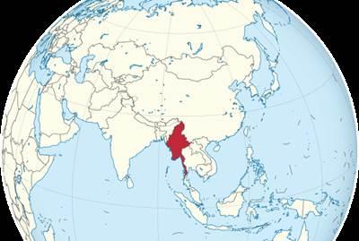 แผนที่ประเทศพม่า